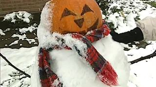 From The Vault: Great Pumpkin meets Frosty the Snowman during Halloween weekend snowstorm in 1993 - Video