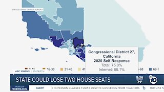 California could lose two house seats