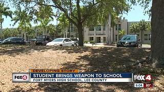 Gun discovered on high school student in Fort Myers