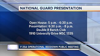 HAPPENING TODAY: F-35A Beddown public meeting