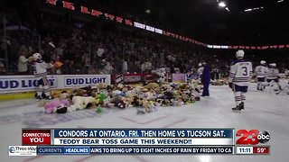 Condors' Teddy Bear Toss going down this Saturday