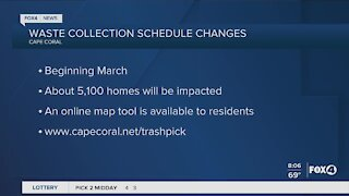 Trash pickup changes for residents in Cape Coral
