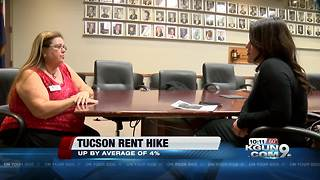 Tucson rent prices steadily increasing - Video