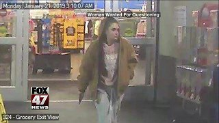 Woman wanted for questioning