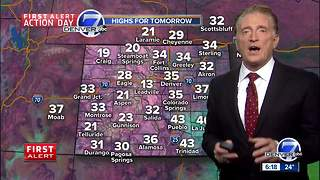 First Alert Action Day: more snow expected this evening across Denver - Video