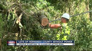 Lots of Hernando Co. without power - Video