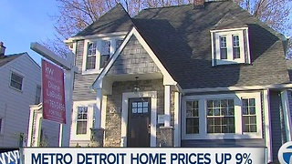 Metro Detroit home prices up 9%