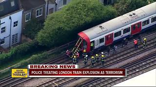 Police declare reported explosion on London subway a terrorist incident - Video