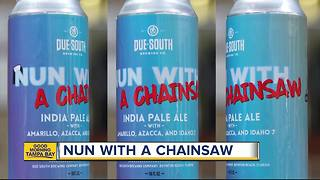 Brewery creates beer in honor of 'Nun With A Chainsaw' following Hurricane Irma - Video