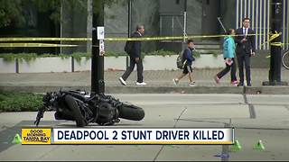 'Deadpool 2' stunt person dies after crashing through window on motorcycle while filming