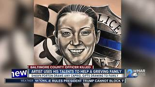 Local artist draws breathtaking portrait of fallen Baltimore County Officer Amy Caprio - Video