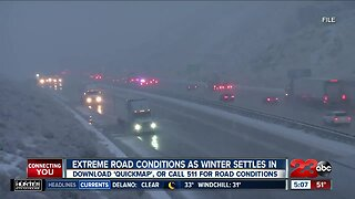 Extreme road conditions as winter settles in
