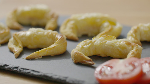 Xanthe Clay's mini ham and cheese croissant canapés