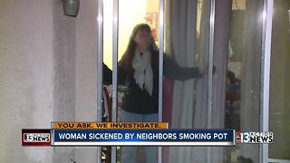 Las Vegas mother says pot smell is making her family sick - Video
