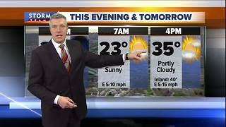 Colder temperatures Thursday night - Video