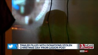 Trailer of donated goods stolen from American Legion Post