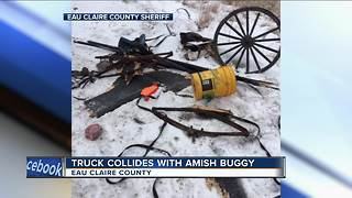Truck collides with Amish buggy - Video