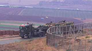 Turkish Forces Deployed At Syrian Border Before Expected Military Operation - Video