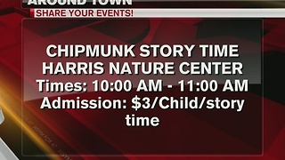 Around Town 1/18/17: Chipmunk Story Time at Harris Nature Center - Video