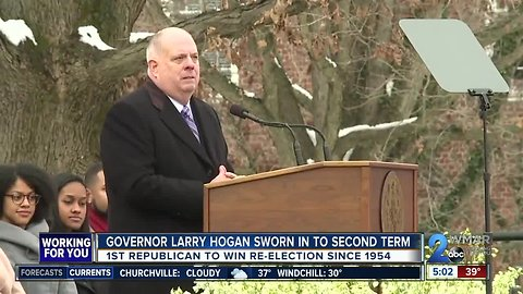 Hogan touts bipartisan success, condemns divisive politics in second inaugural address