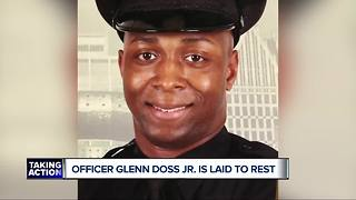 Funeral held for fallen Detroit Police Officer Glenn Doss at Greater Grace Temple