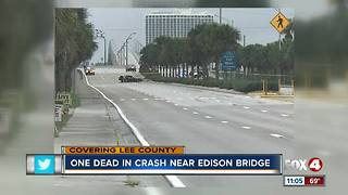 Fatal crash shuts down Edison Bridge - Video