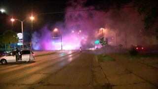 Overnight protests escalated early this morning