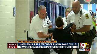 Hamilton first responders hold school shooter drill