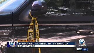 Child stabbed another child