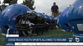 Judge rules youth sports allowed to resume