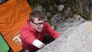 Teenager who is UK's top one-armed rock climber won't let disability hold him back