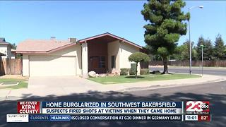 suspect fires shots at homeowner during burglary attemp - Video