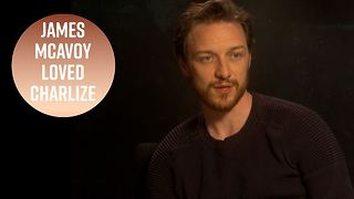 James McAvoy can't stop gushing about Charlize Theron - Video