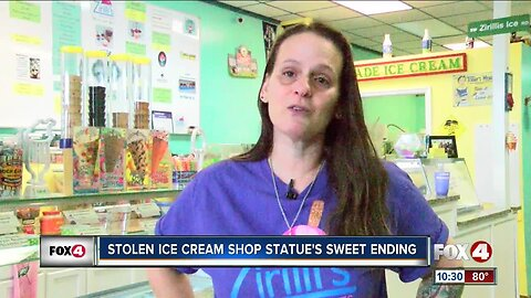 Zirilli's Chilly Treats in Cape Coral finds missing cone statue