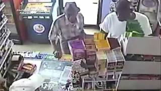 Police searching for man who robbed a 96-year-old retired pastor at St. Pete gas station - Video
