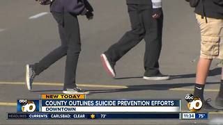 San Diego County outlines suicide prevention efforts