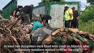 Community members work together to clean Baltimore