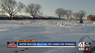 Winter weather slows down Veterans Community Project