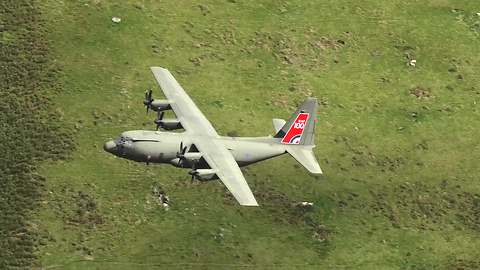 Hercules With RAF Centenary Tail And Airbus A400M At Mach Loop 4K