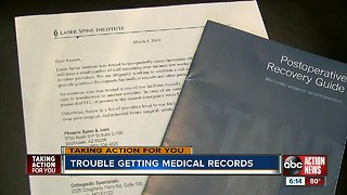 Fla. woman fighting to get records from Laser Spine Institute