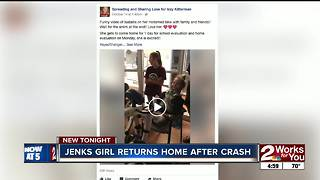 Crash victim Izzy Kitterman returns to Jenks - Video