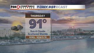 Partly Cloudy Skies and Warm Temperatures 9-13 - Video