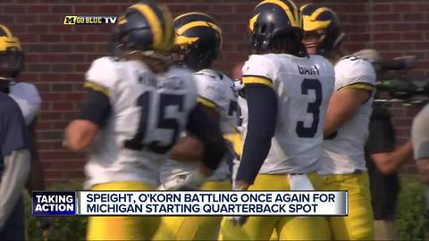 2 QB's separate as Michigan camp rolls on