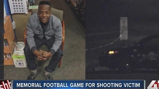Memorial football game for shooting victim - Video