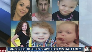 Marion deputies search for missing family, four children considered endangered - Video