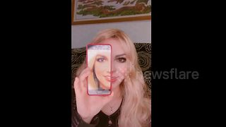 Chinese makeup artist transforms herself into Western celebrities - Video
