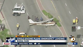 Small plane makes emergency landing on OC street