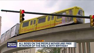 Take a free ride on the Detroit People Mover for its 30th birthday - Video
