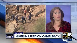 Phoenix fire rescues several people on Camelback Mountain - Video