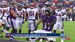 Baltimore Ravens defeat Denver Broncos
